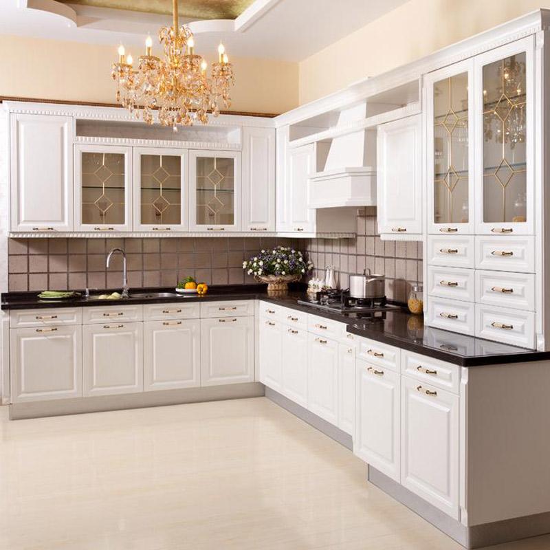 海尔(Haier)整体厨房欧式风格橱柜 颜色可多选橱柜可定制+集成灶罗马家园套餐