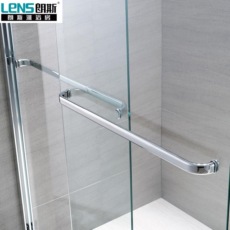 朗斯淋浴房(LENS)整体定制浴室隔断 3C钢化玻璃+防爆膜 诺曼P22 一字型
