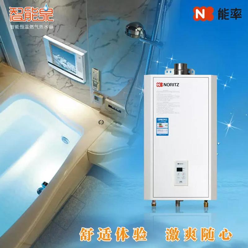 能率(NORITZ)GQ-1090FE 10升強排式恒溫燃氣熱水器 天然氣