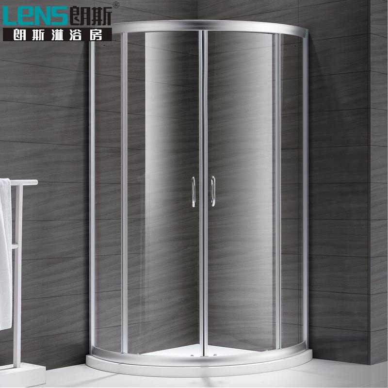 朗斯淋浴房(LENS)定制整體弧形鋼化玻璃浴室屏風隔斷穆勒B42 有框推拉門系列