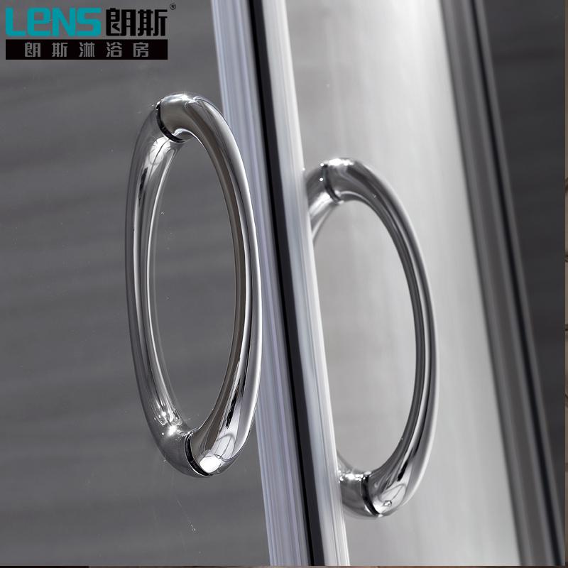 朗斯淋浴房(LENS)浴室隔斷 鋼化玻璃+防爆膜 圓弧形整體淋浴房海倫B42  900*900*1850*6mm/套