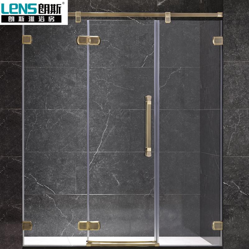 朗斯淋浴房(LENS)兰帕德P31 无框系列 上门定制 钢化玻璃 屏风 隔断 一字型 淋浴房定制