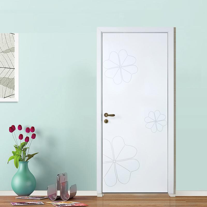 顶间木门(DJSMM)现代简约室内门实木复合套装门卧室门欧式房门 R-09平面仿古