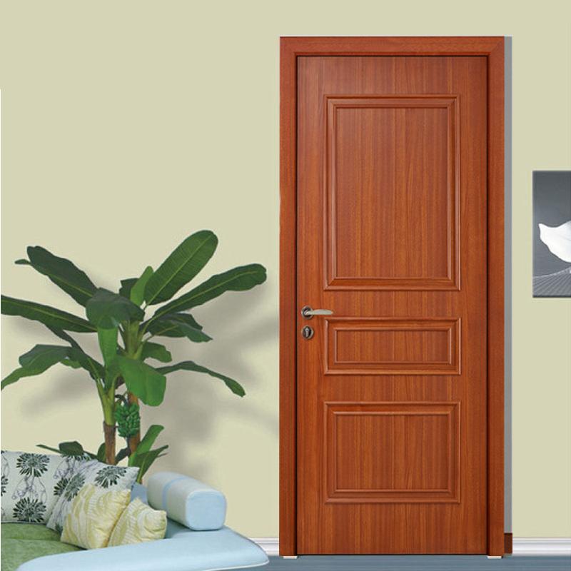顶间木门(DJSMM)简约现代生态门复合实木门卧室门室内门定制房门R-03橡木红