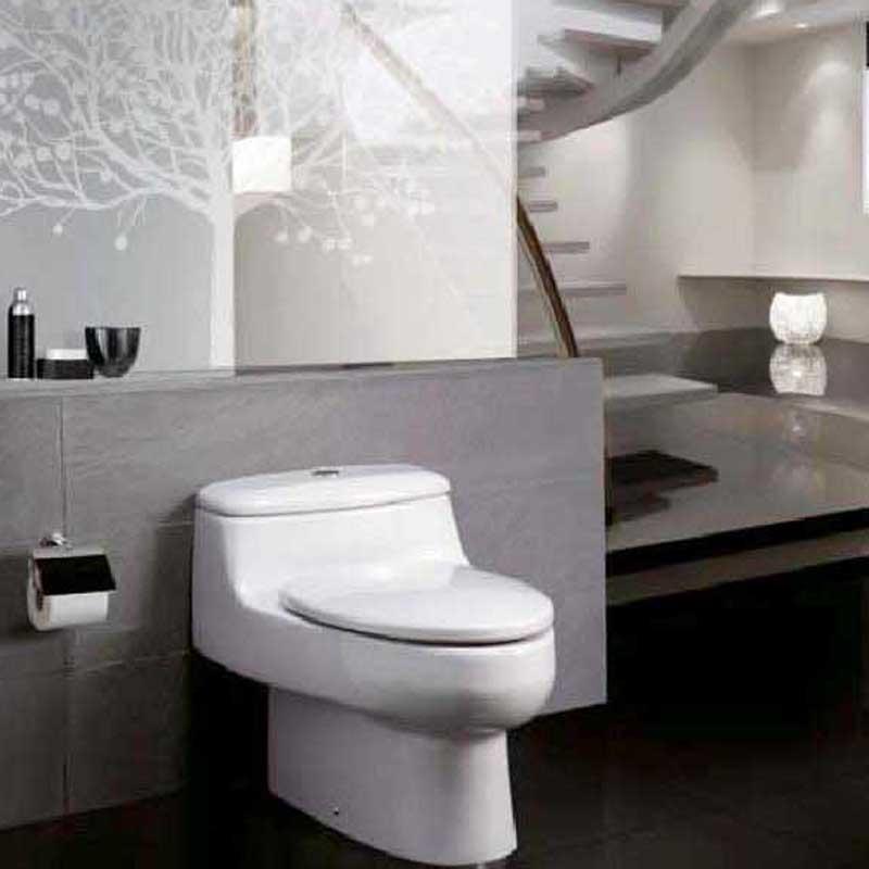 樂家衛浴(ROCA)芝加哥 連體座廁 側按沖水座廁 349487..0 噴射虹吸馬桶