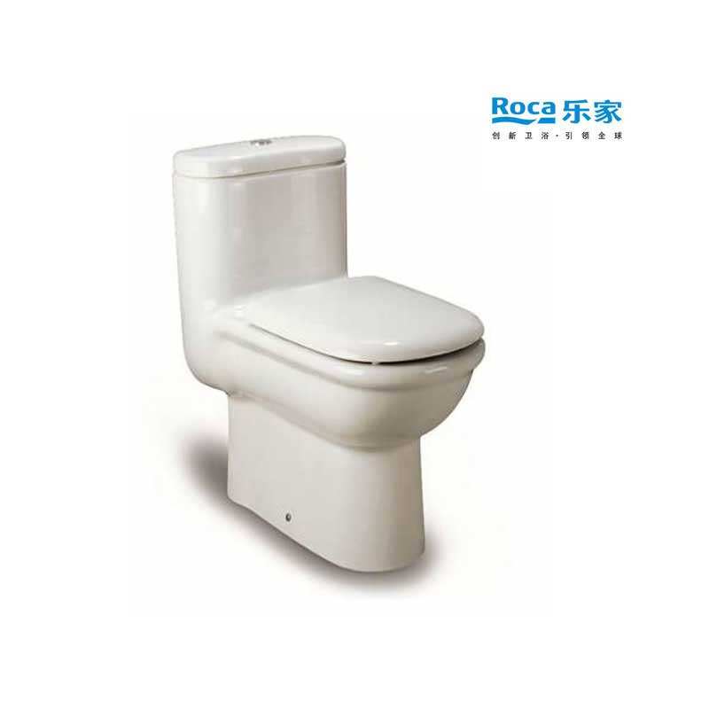 乐家卫浴(ROCA)吉拉达连体马桶 直冲一体座便器 进口水箱 349467..0