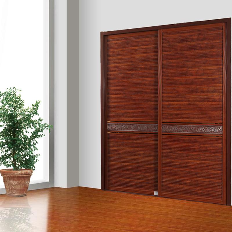 卡迪曼(KDM)移门衣柜 B538苹果木枰板+金银花