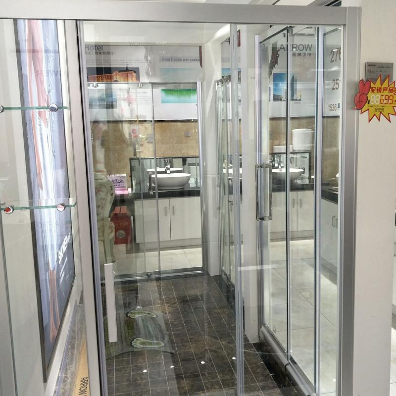 箭牌衛浴(arrow)鋼化玻璃淋浴屏風 移門式淋浴房ALF108