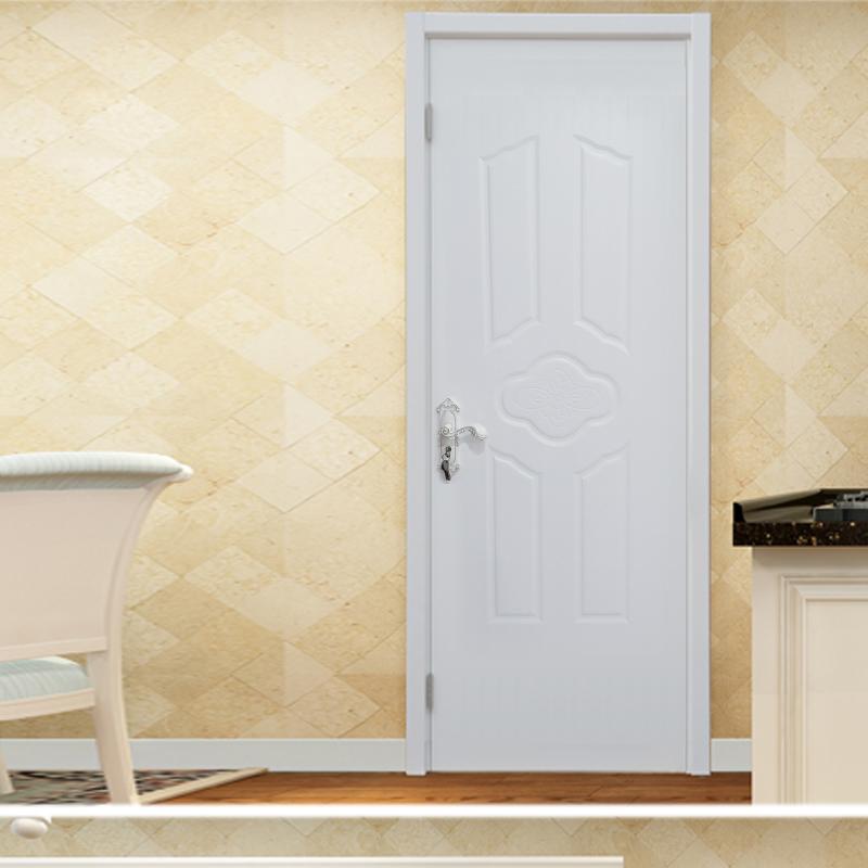 鸿富木门(HF)田园美式烤漆套装门室内门复合实木门原木门纯白色橡胶印HF-C108花门