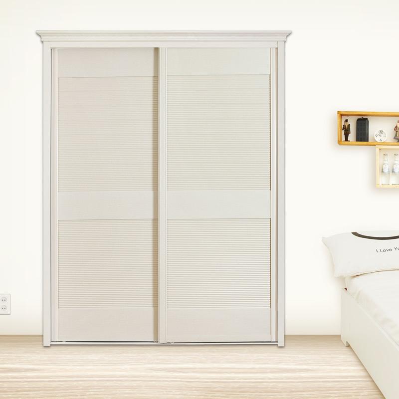 卡迪曼(KDM)简约现代百叶移门衣柜 卧室组合衣柜板式滑门衣柜推拉门 非标定制005