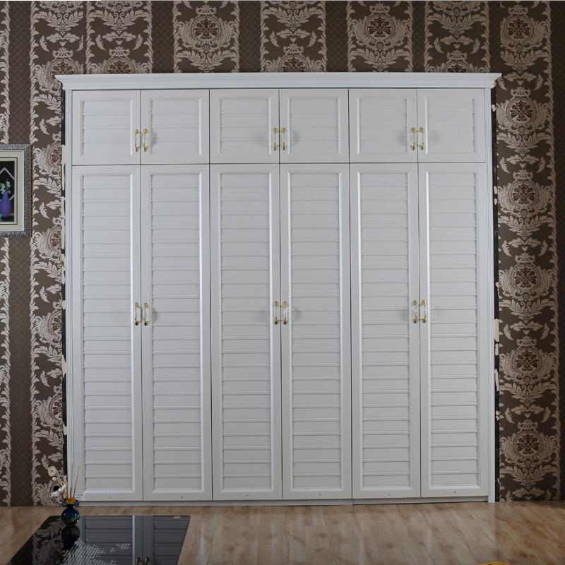 卡迪曼(KDM)移门衣柜 B255欧洲珠光白棱格斜形板开门