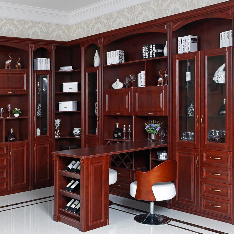 卡迪曼(KDM) 定制中式酒柜组合 实木复古奥松板红酒柜吧台柜M4A1998