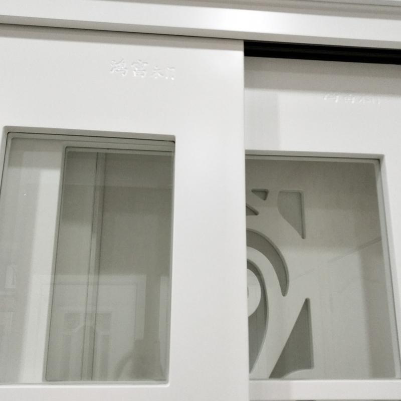 鸿富木门(HF)玻璃推拉实木门 浴室折叠移门 卫生间客厅隔断门现代复合室内门HF-D012