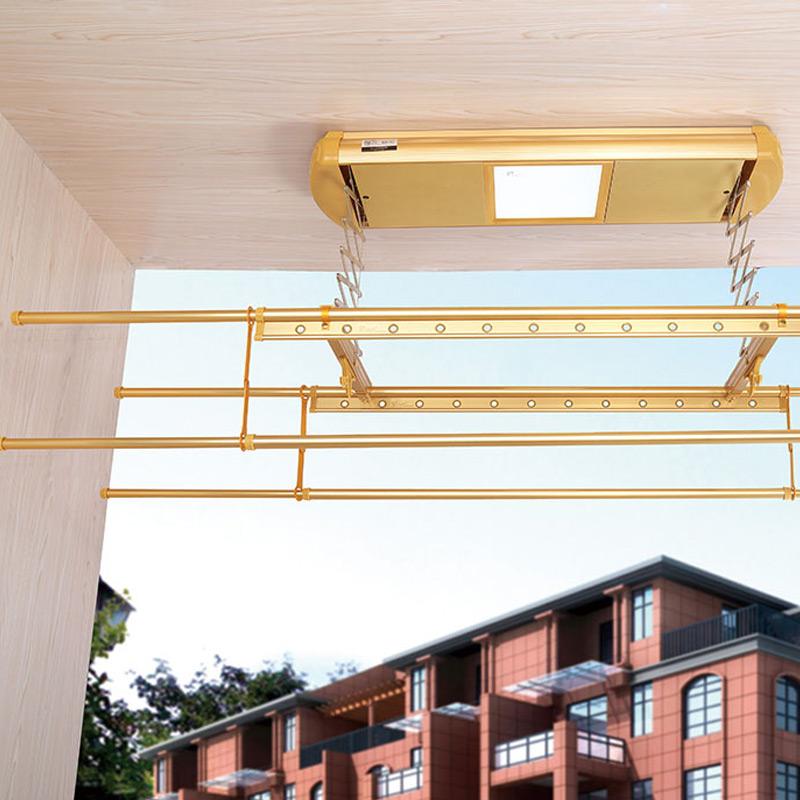 盼盼晾衣架(PANPAN)电动电控升降晾衣架金色银色 PP-991104 1.3m-2.2m