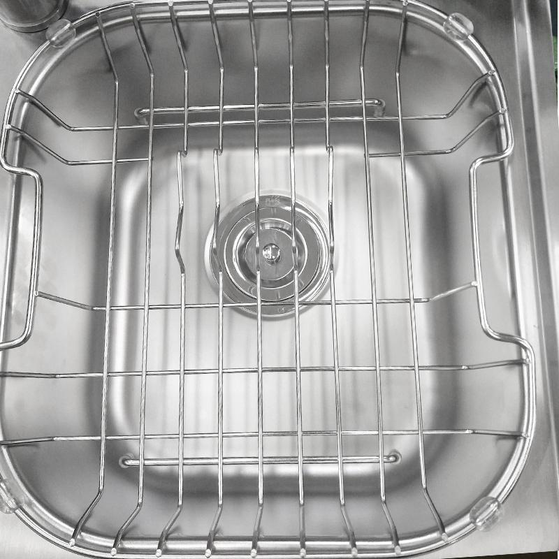 阿发(AFA)304不锈钢水槽 手工拉丝台上槽厨盆双槽套餐AF-8043含龙头