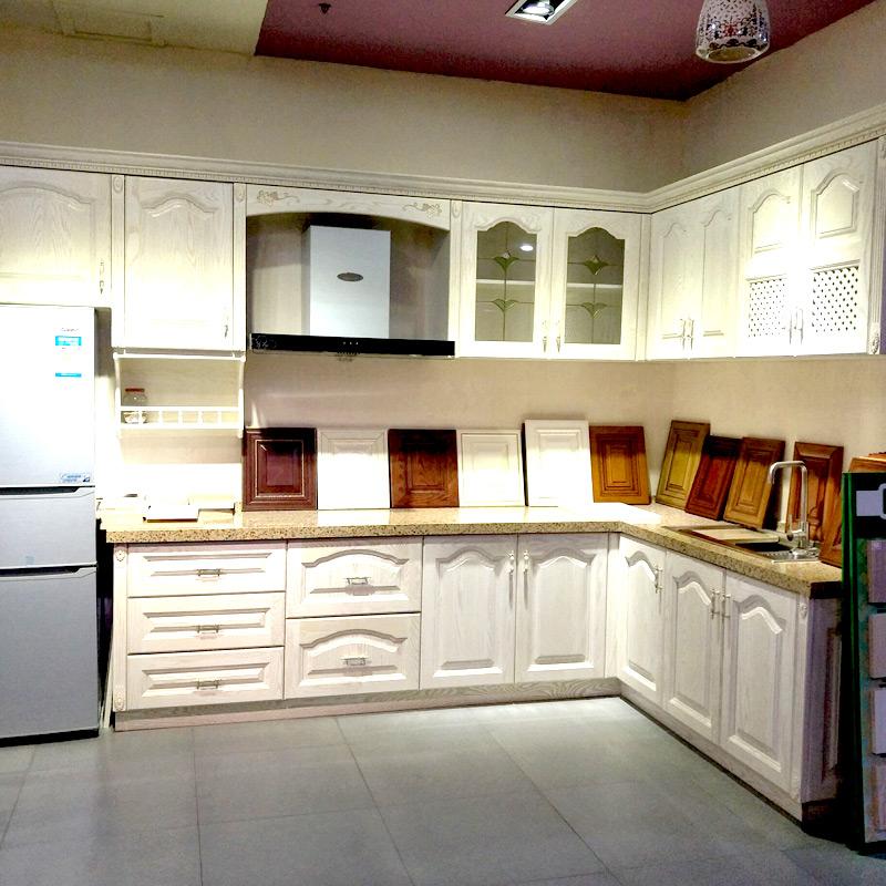 爱德橱柜衣柜(aide) 实木橱柜 美国红橡门板+柜体多层板+单色石英台