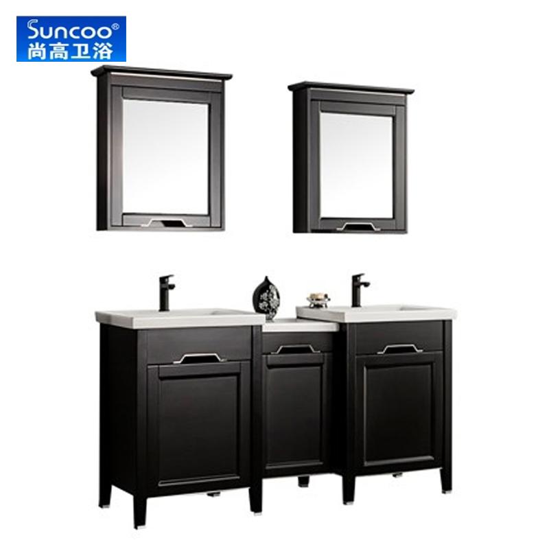 尚高衛浴(Suncoo)正品浴室柜實木衛浴柜落地柜 歐式洗手臺盆組合卡爾260