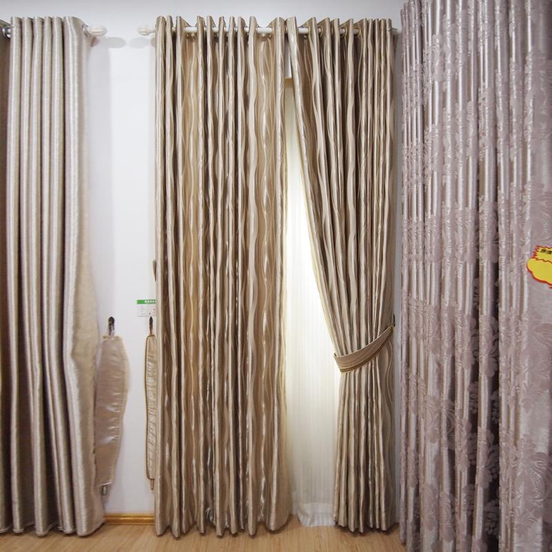 万祥窗帘墙纸现代简约雅致环保遮光定制窗帘B31