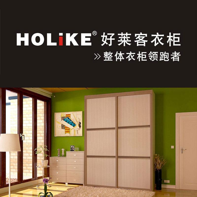 好萊客衣柜(HOLIKE)整體衣柜定制 簡約簡易衣柜時尚移門收納衣櫥