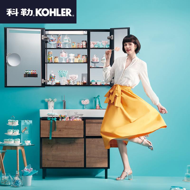 科勒卫浴(KOHLER)浴室柜 博纳浴室柜组合家具挂墙浴室柜洗漱台K-20020T+96121T