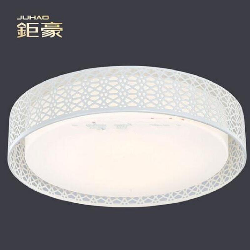 鉅豪照明( JUHAO)50cm圓形LED臥室吸頂燈 現代簡約 開關分段調色變色 臥室10-15平米 水立方 三段變色 20W