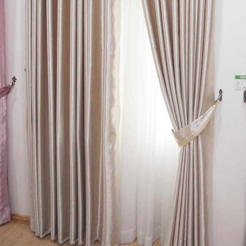 万祥窗帘墙纸现代简约纯色环保遮光定制窗帘B30