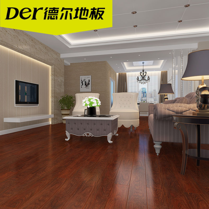 德尔地板(Der)无醛芯环保地板强化复合木地板锦绣系列双色可选适合地暖