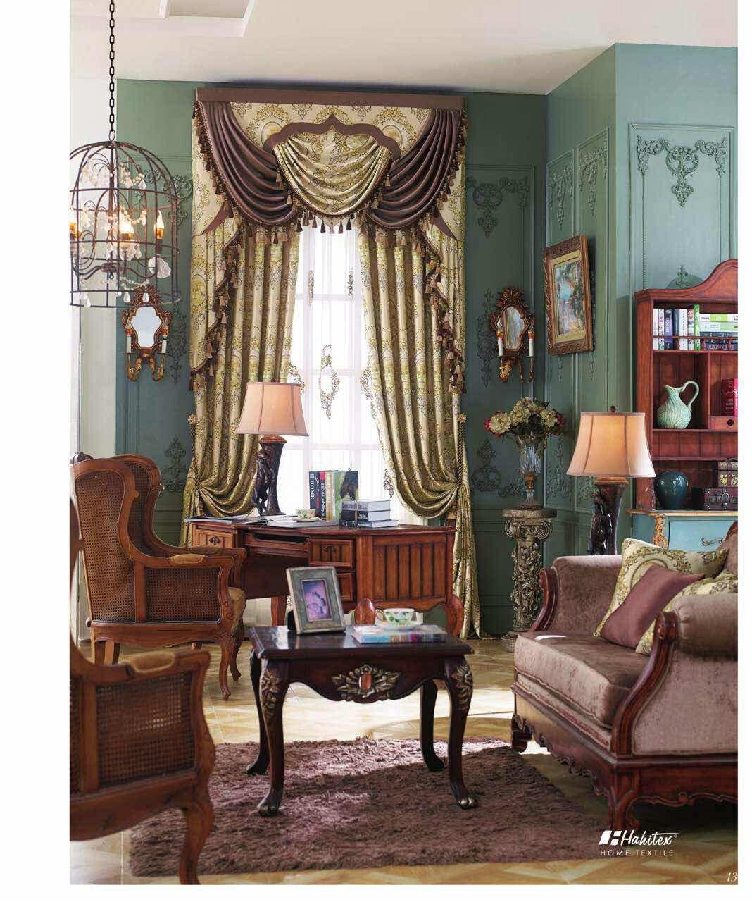 天丽墙纸(DELIGHT)欧曼蒂法式欧式窗帘餐厅客厅别墅成品定制窗帘卧室遮光丝绒窗帘布