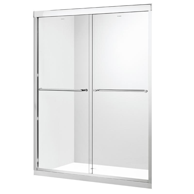 德立淋浴房(Deli)S6整体304全不锈钢钻石型隔断浴室玻璃定制