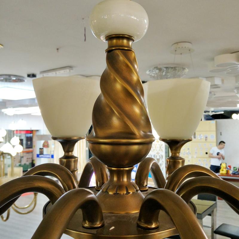金烁灯饰全铜欧式简美简约吊灯