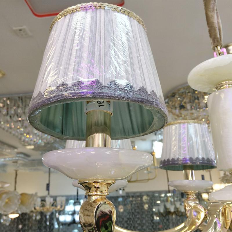 品灯阁美式吊灯客厅灯创意简约现代卧室书房水晶吊灯餐厅灯六头大气