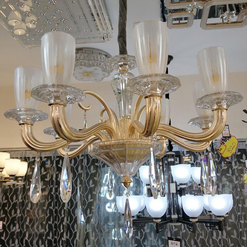 品灯阁新款正品 欧式灯蜡烛灯 客厅餐厅卧室水晶琉璃吊灯