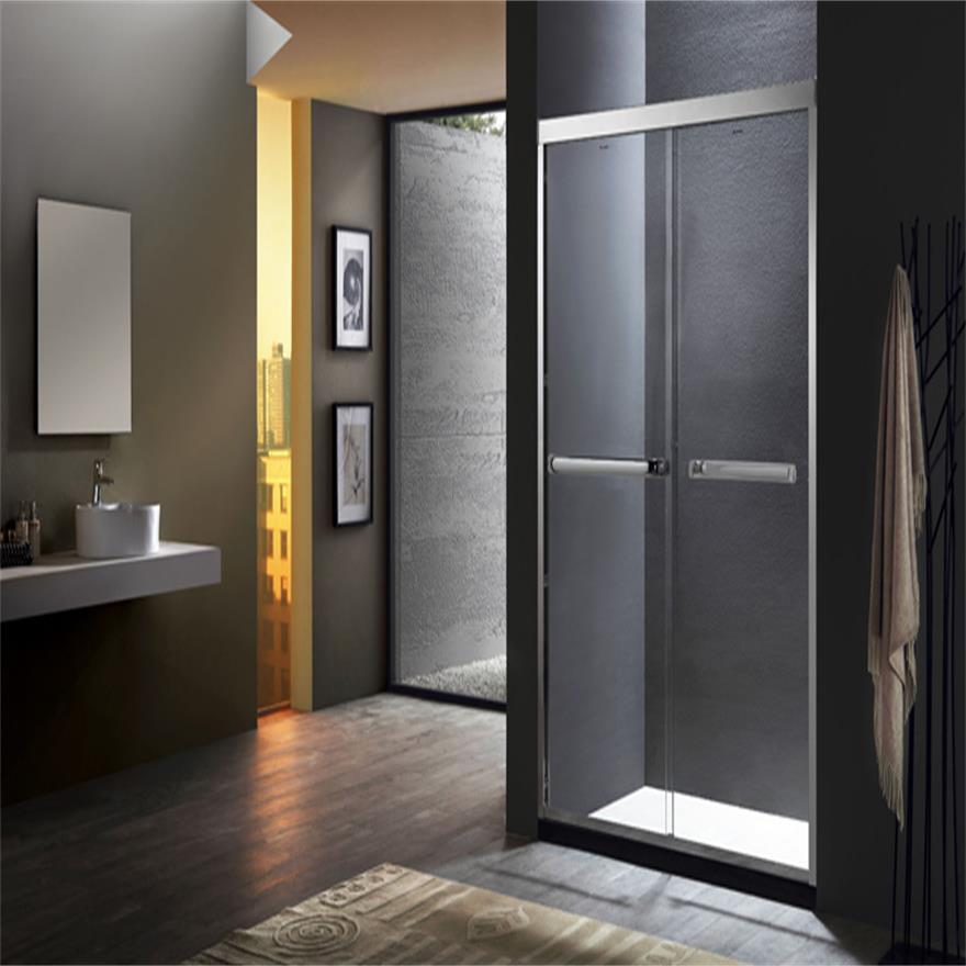 德立淋浴房(Deli)s7 整体304全不锈钢钻石型隔断浴室玻璃定制简易洗浴间