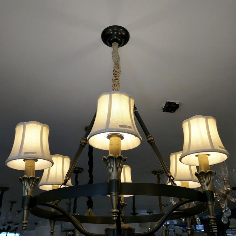 金烁灯饰美式吊灯客厅铁艺复古主卧室现代简约餐厅灯北欧乡村饭厅奢华灯具