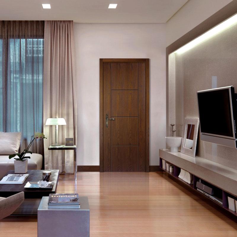 顶间木门(DJSMM)现代简约室内门实木复合套装门卧室门欧式房门 PM-009平面仿古