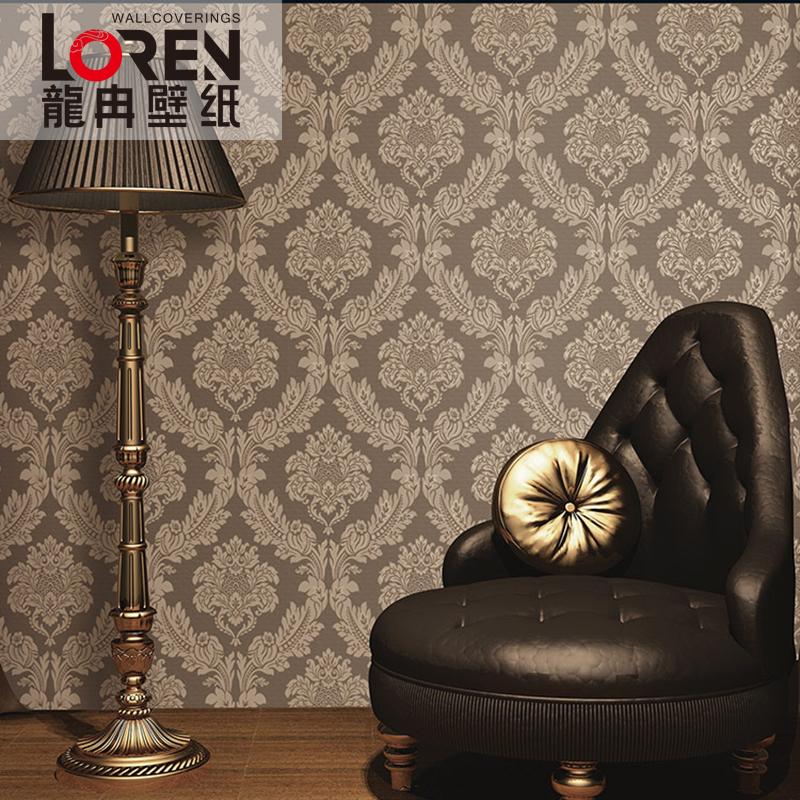 龙冉壁纸(LOREN)仿丝绸底布纱线 客厅卧室背景墙纸 罗马假日0.53米*10米(1卷) SL-225