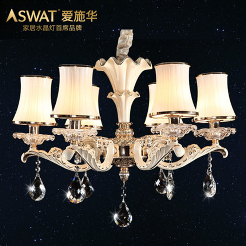 新天利燈飾(Tianli)芳菲季節歐式水晶吊燈 客廳臥室餐廳吊燈