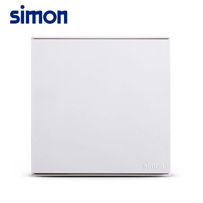 西蒙 (Simon)开双控开关插座面板E6白色86型 电源灯墙壁单开按钮