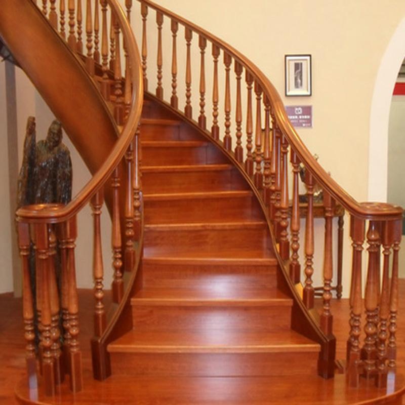 雅诺楼梯美国红橡 钢木 榉木 橡胶木 用于复式 阁楼 别墅室内楼梯(定制)