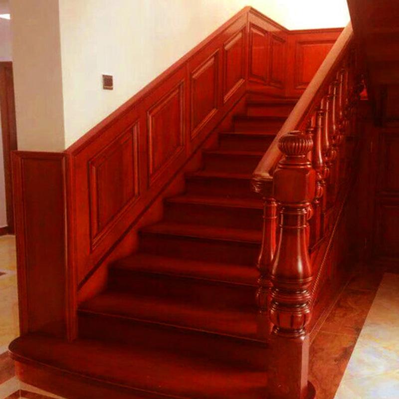雅诺楼梯榉木 橡胶木 美国红橡 用于复式 阁楼 别墅室内楼梯(定制)