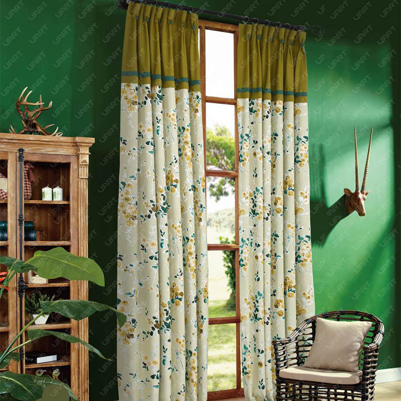 富耀软装田园窗帘 提花 中式 现代简约 美式 AD-A9291
