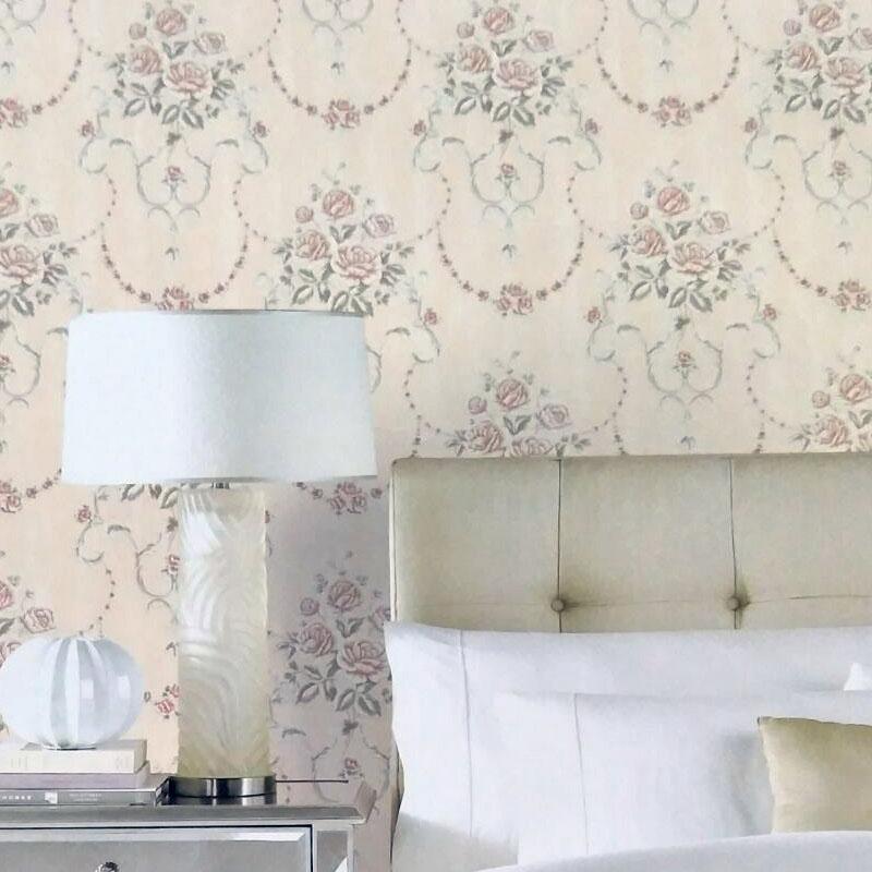 云廊软装典雅田园风卧室客厅花朵墙纸  现代简约花朵系列