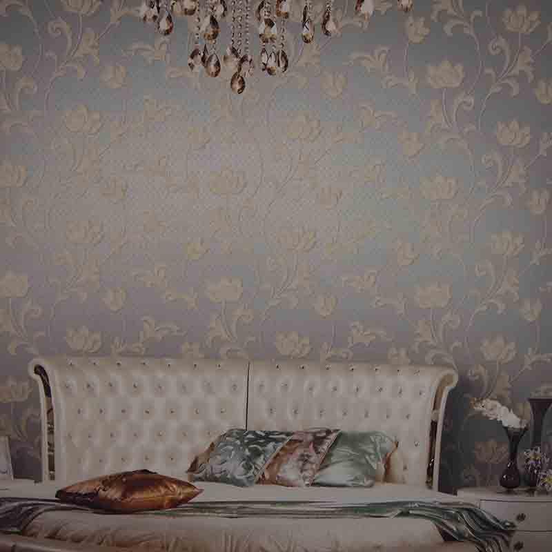 【特价】龙冉壁纸(LOREN)无纺布撒花墙纸包人工 中式客厅卧室背景墙墙纸 范特西0.7米*10米(1卷) F-664205