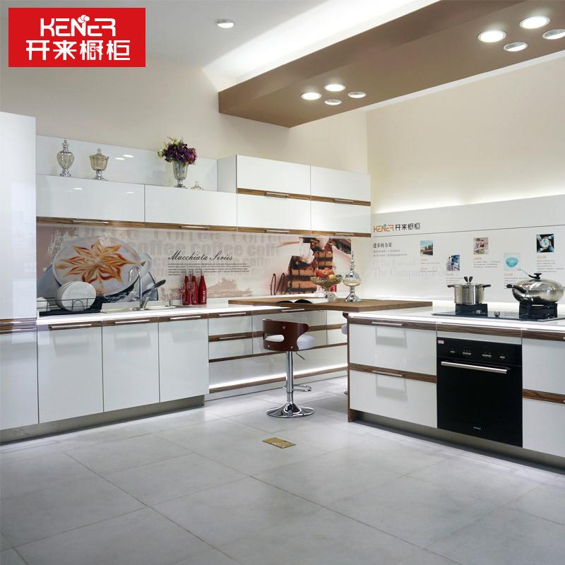 開來櫥柜(KENNER)整體櫥柜定做 一字型廚柜現代簡約石英石 亞克力櫥柜定制