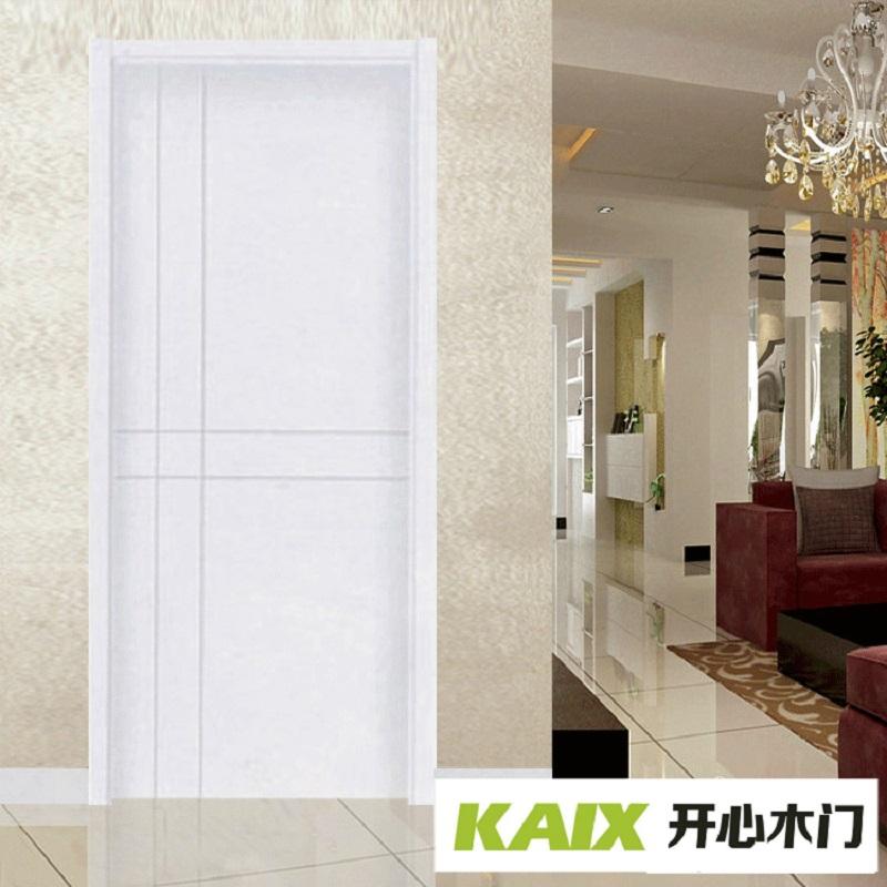 开心木门(CASON)定做SG728纯白实木复合烤漆门 平开式卧室卫生间木门 宽高可定制