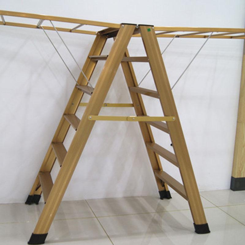 好太太晾衣架(Hotata)GW561多功能折叠晾衣架 梯子双用功能晾衣架
