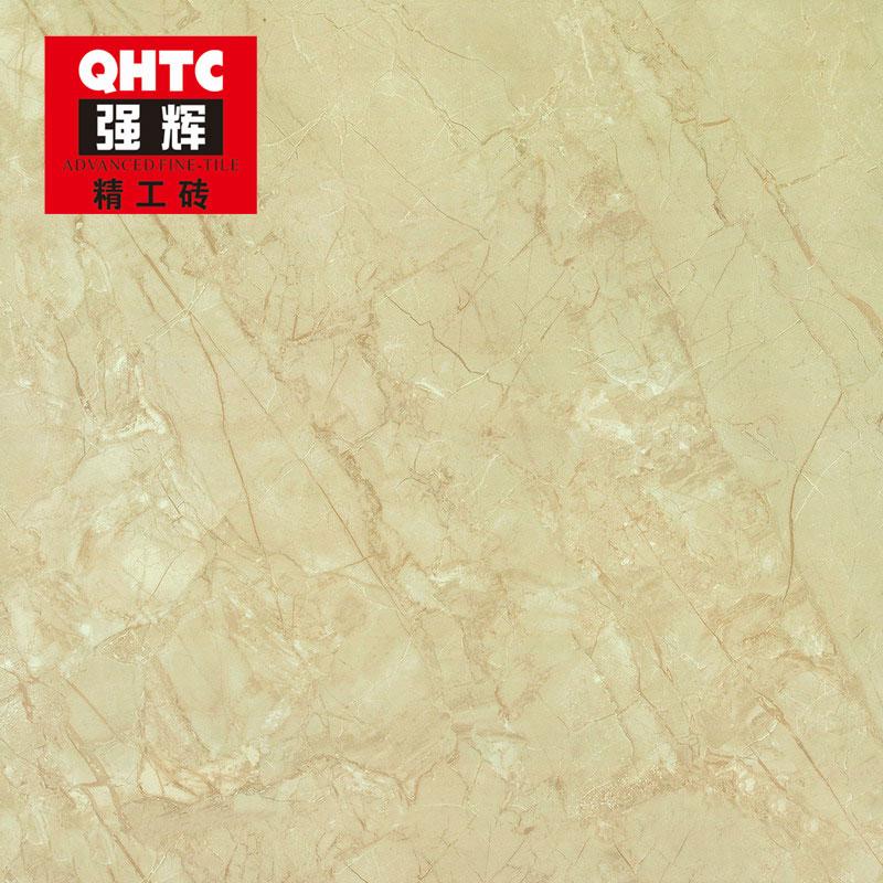 強輝陶瓷(QHTC)客廳室內地磚WAP8249B瓷磚800x800方形大理石瓷磚 亞沙西米色