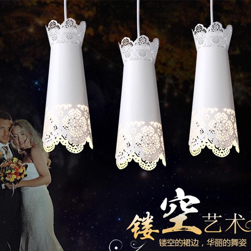 三雄極光(Sanxiong Aurora)餐吊燈豐熙E27魚線吊燈三頭現代餐吊燈創意燈