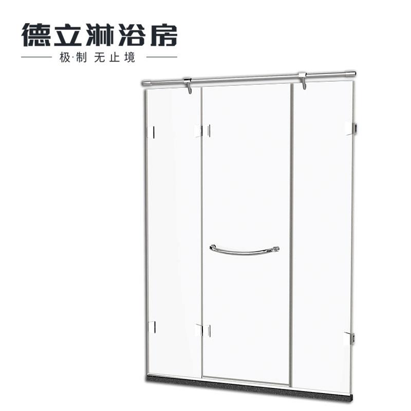 德立淋浴房(Deli)整体304全不锈钢钻石型隔断浴室玻璃定制简易洗浴间