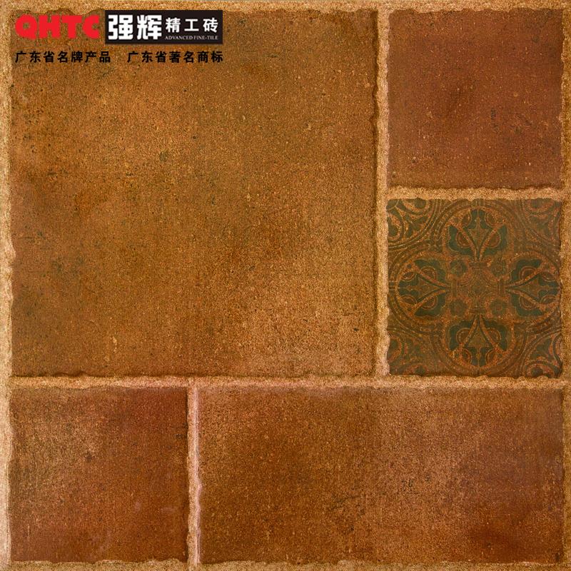 【特价】强辉陶瓷(QHTC)仿古砖433007 室内外地砖墙砖 阳台田园风格地砖400X400